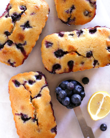 Blueberry Lemon Loaf Cakes