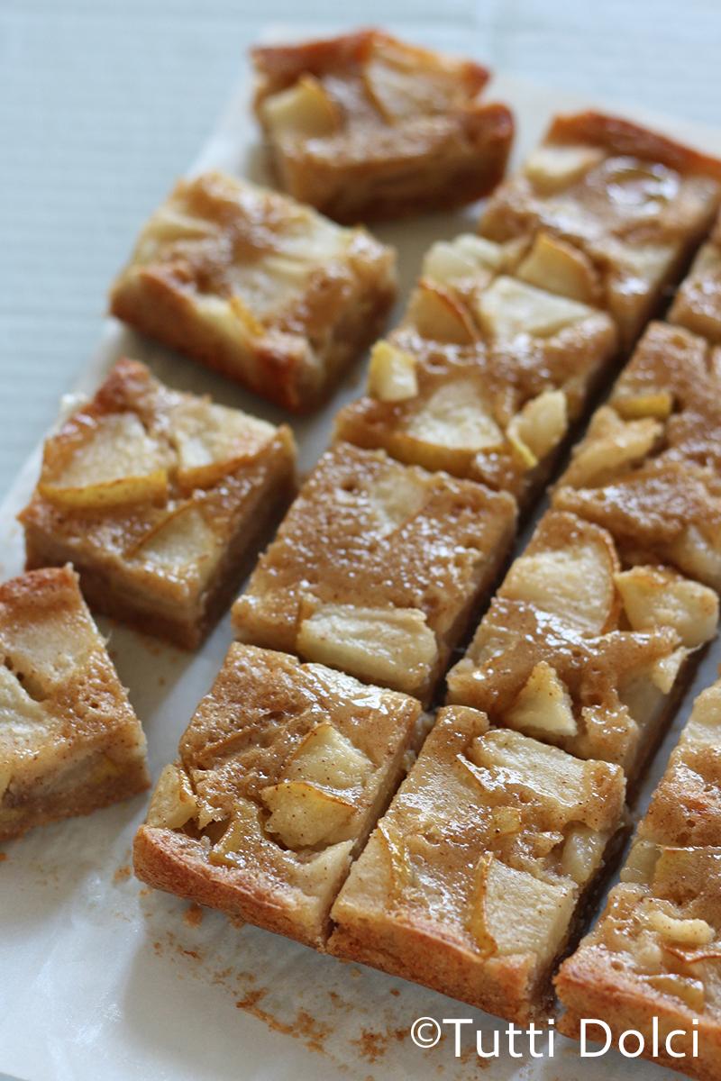 Brown Butter Pear Bars | Tutti Dolci