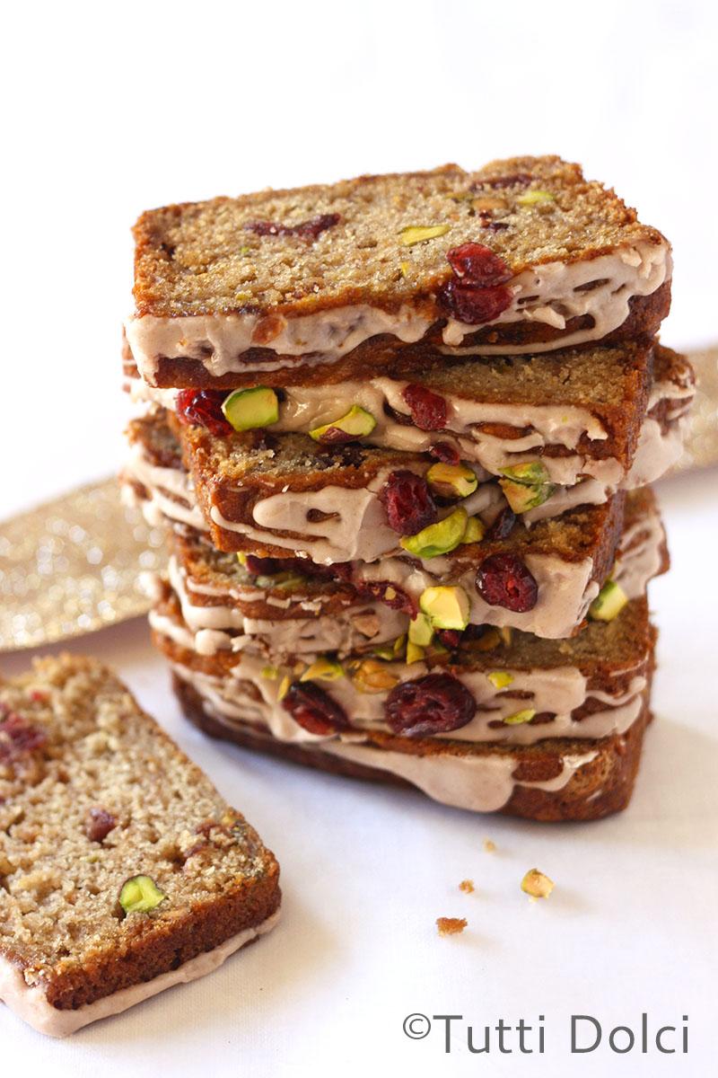 Apple, Cranberry & Pistachio Bread | Tutti Dolci