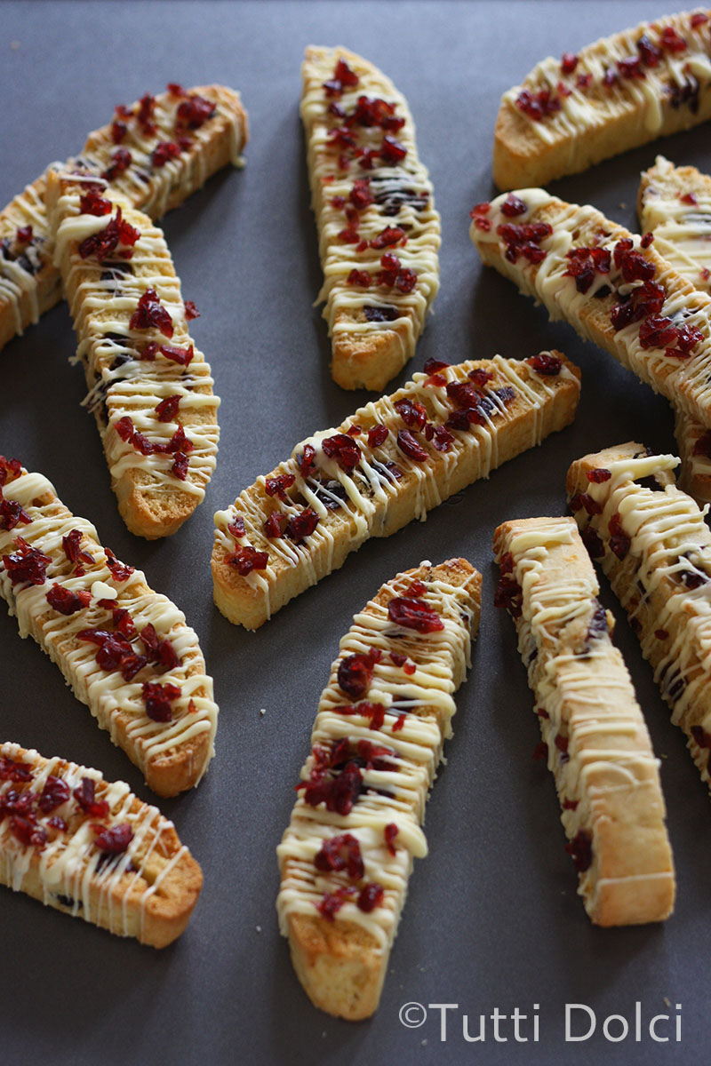 ... drizzle and jeweled cranberries, these biscotti are holiday perfect