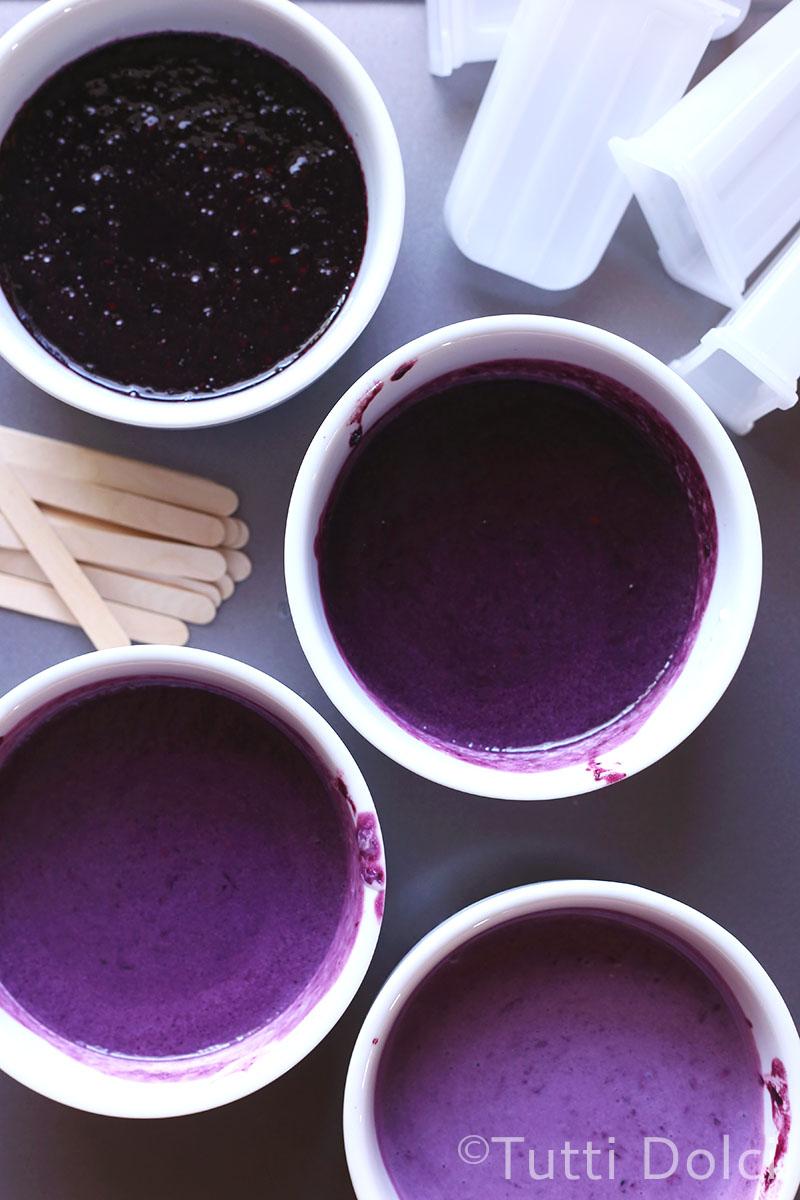 Blackberry Ombre Popsicles | Tutti Dolci
