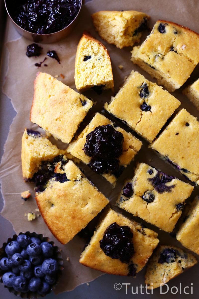 Blueberry Buttermilk Cornbread | Tutti Dolci