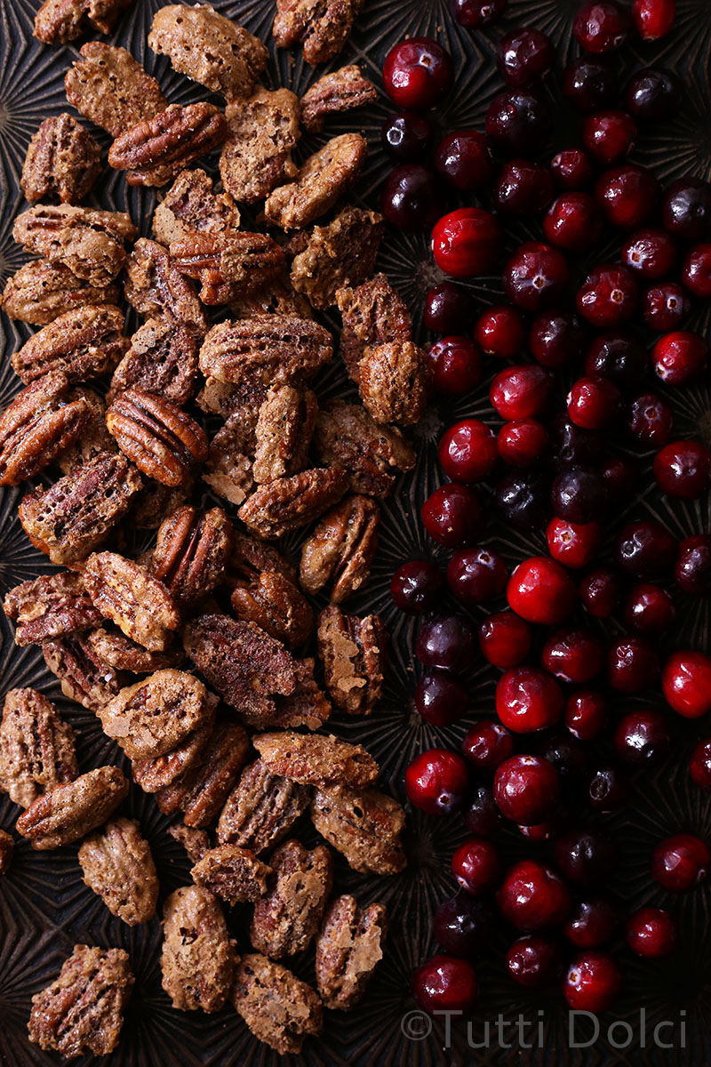 Brown Butter-Cranberry Ice Cream with Candied Pecans   Tutti Dolci