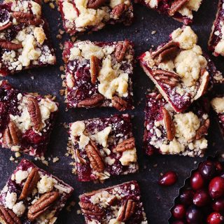 cranberry pecan crumb bars