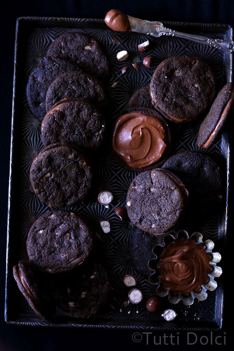 Malted Chocolate Sandwich Cookies   Tutti Dolci