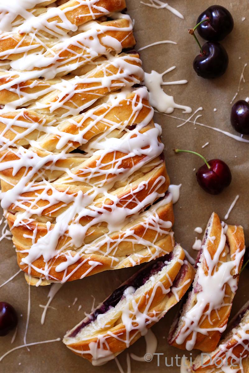 Cherry Almond Danish Braid Tutti Dolci