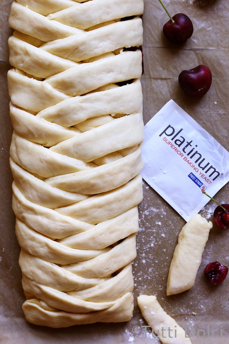 Cherry Almond Danish Braid | Tutti Dolci