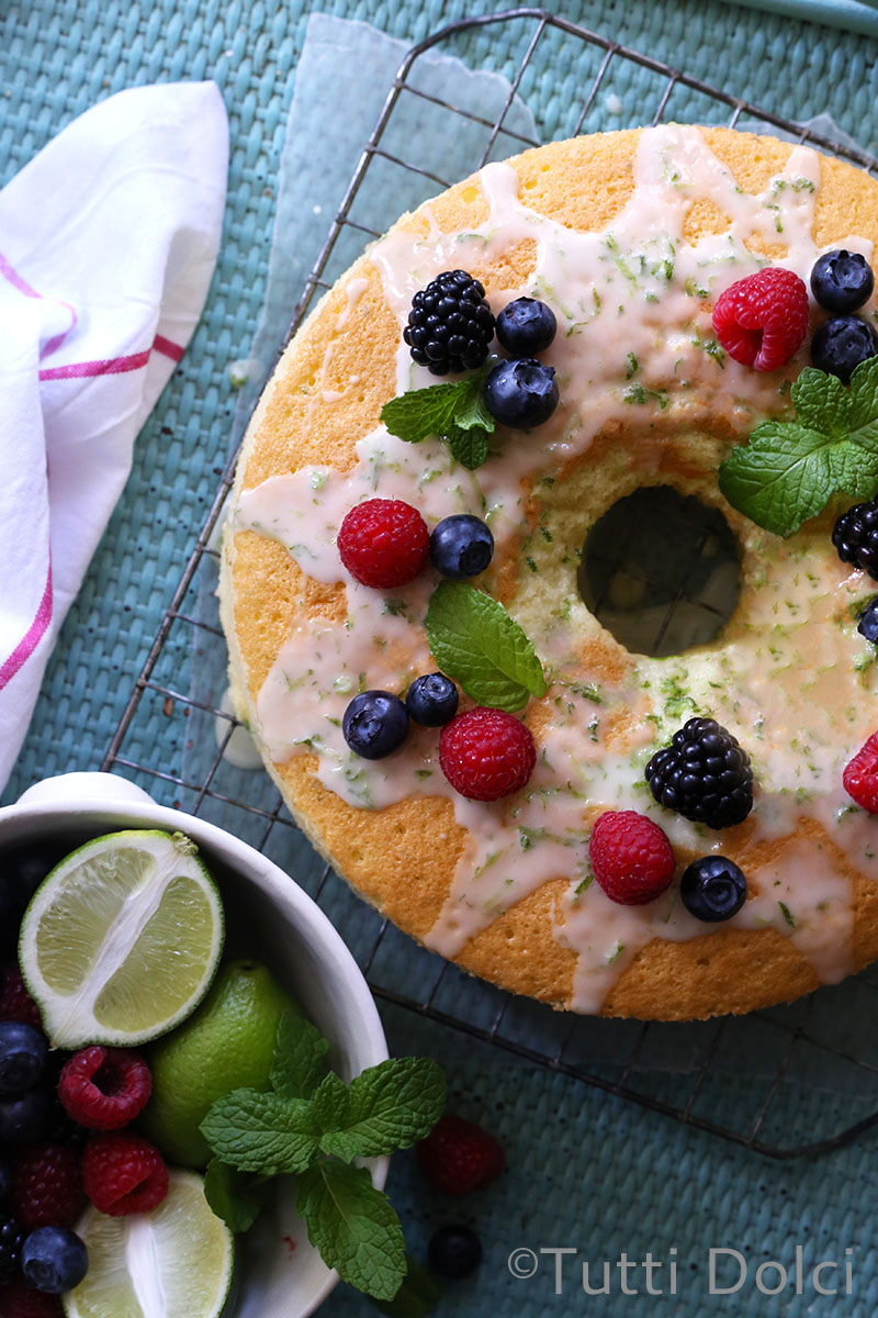 Lime Chiffon Cake | Tutti Dolci