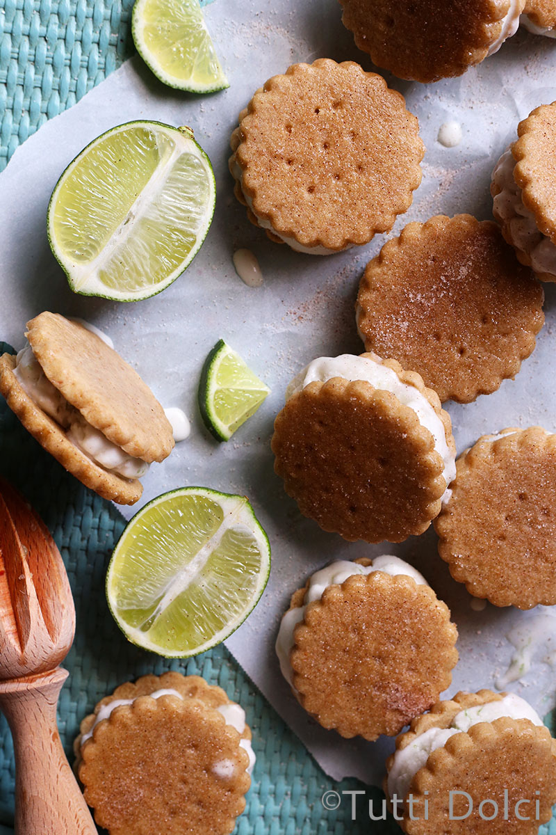 Key Lime Pie Ice Cream Sandwiches | Tutti Dolci
