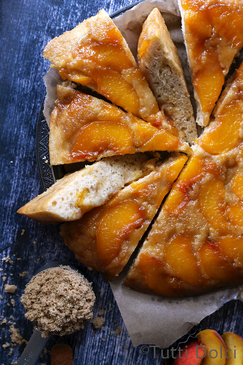 peach upside down cake cake 6406