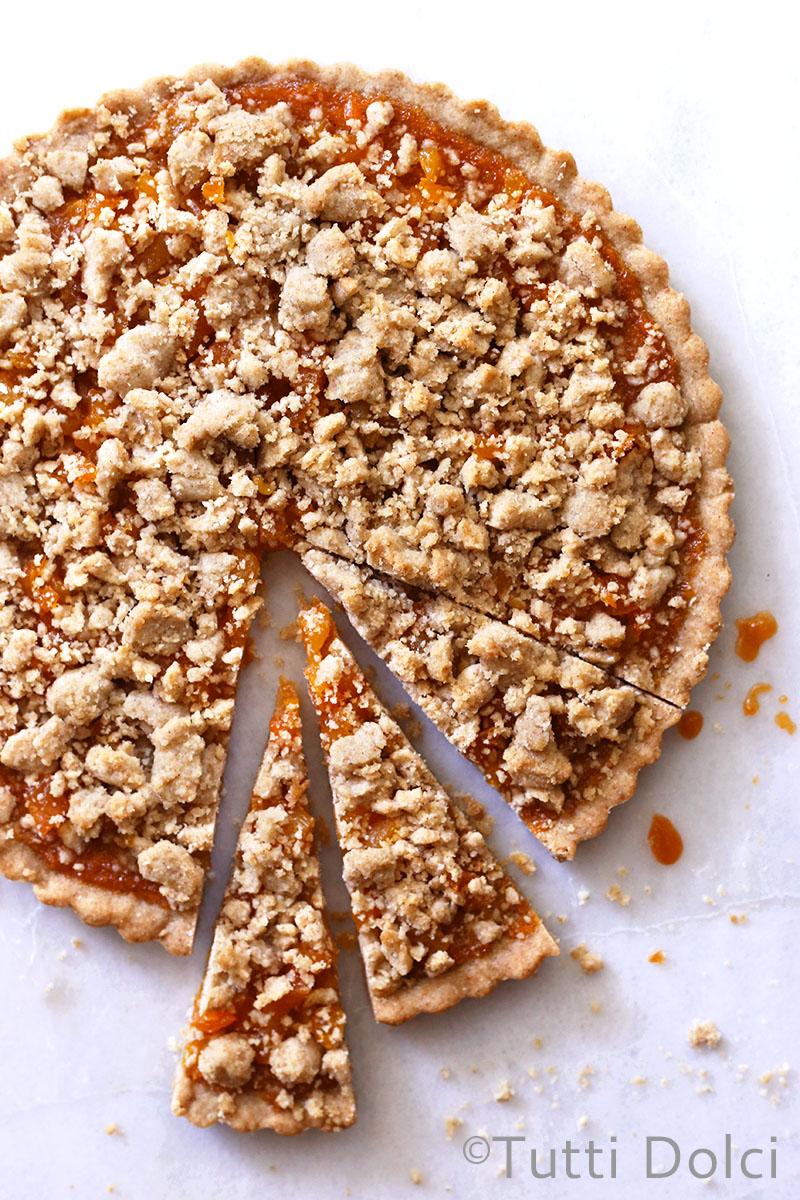 Apricot Amaretto Cookie Bars | Tutti Dolci