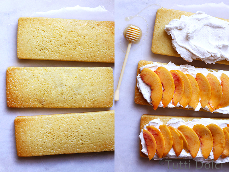 Lemon Peach Cake with Honey Whipped Cream | Tutti Dolci