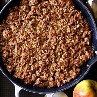 skillet amaretto apple crisp