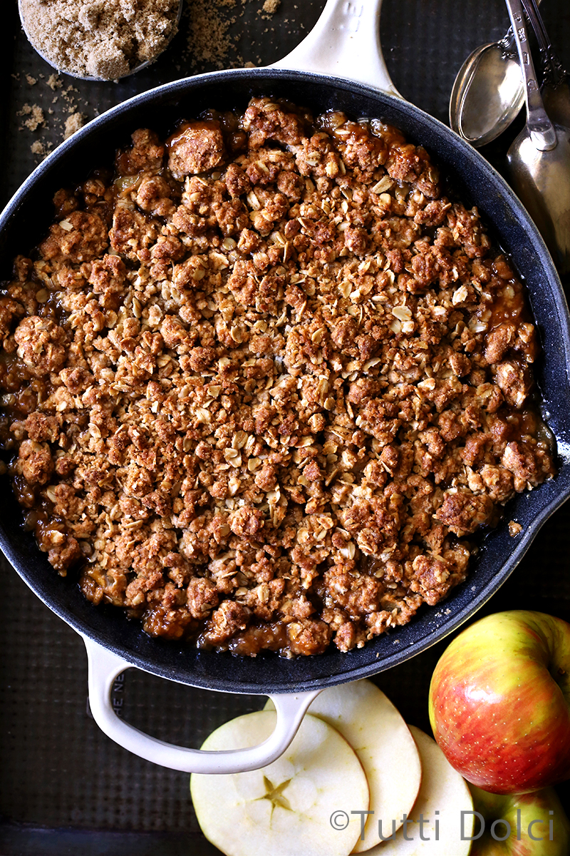 come from an apple crisp family my grandmother has baked apple crisp ...