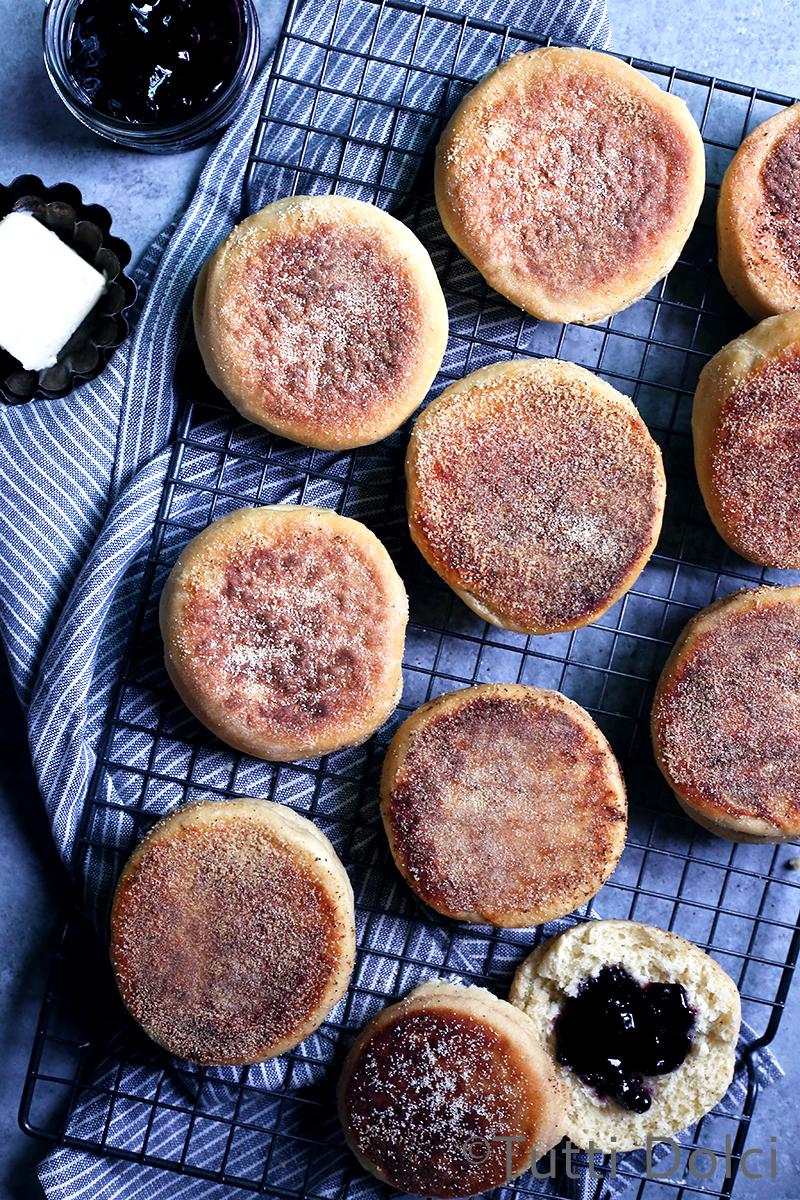 English muffins recipe overnight