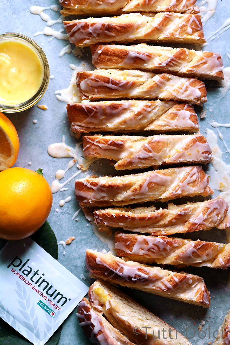 Meyer Lemon Danish Braid