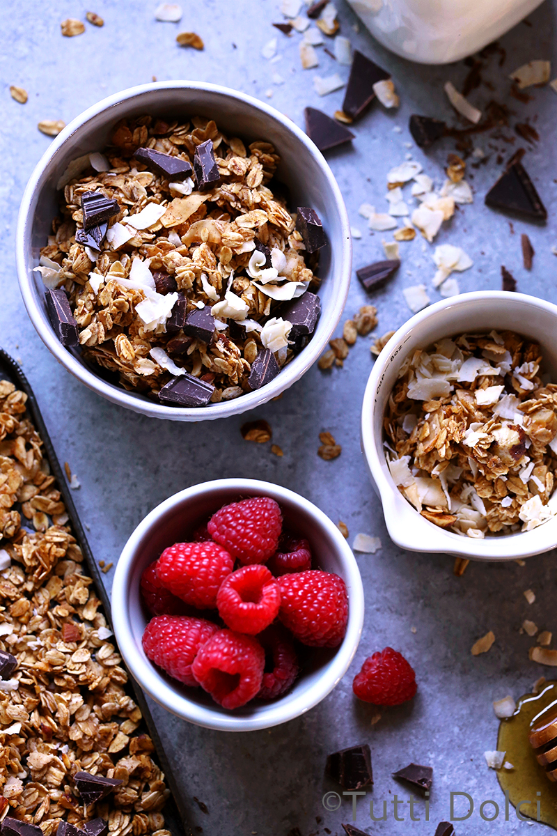 Toasted Coconut Chocolate Granola