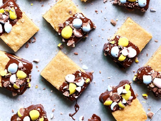 Chocolate Dipped Cadbury Mini Egg Blondies