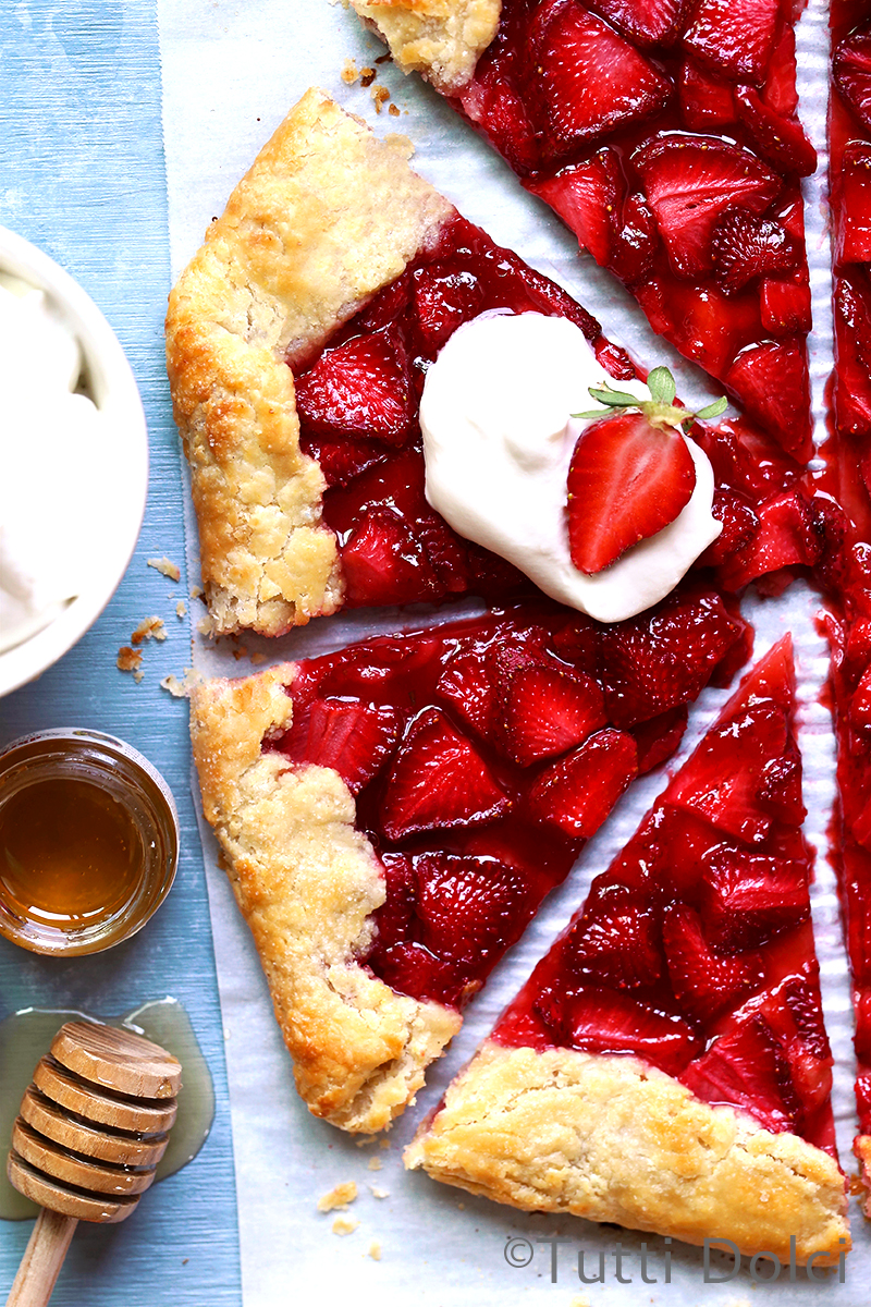 Strawberry Crostata with Honey Whipped Cream