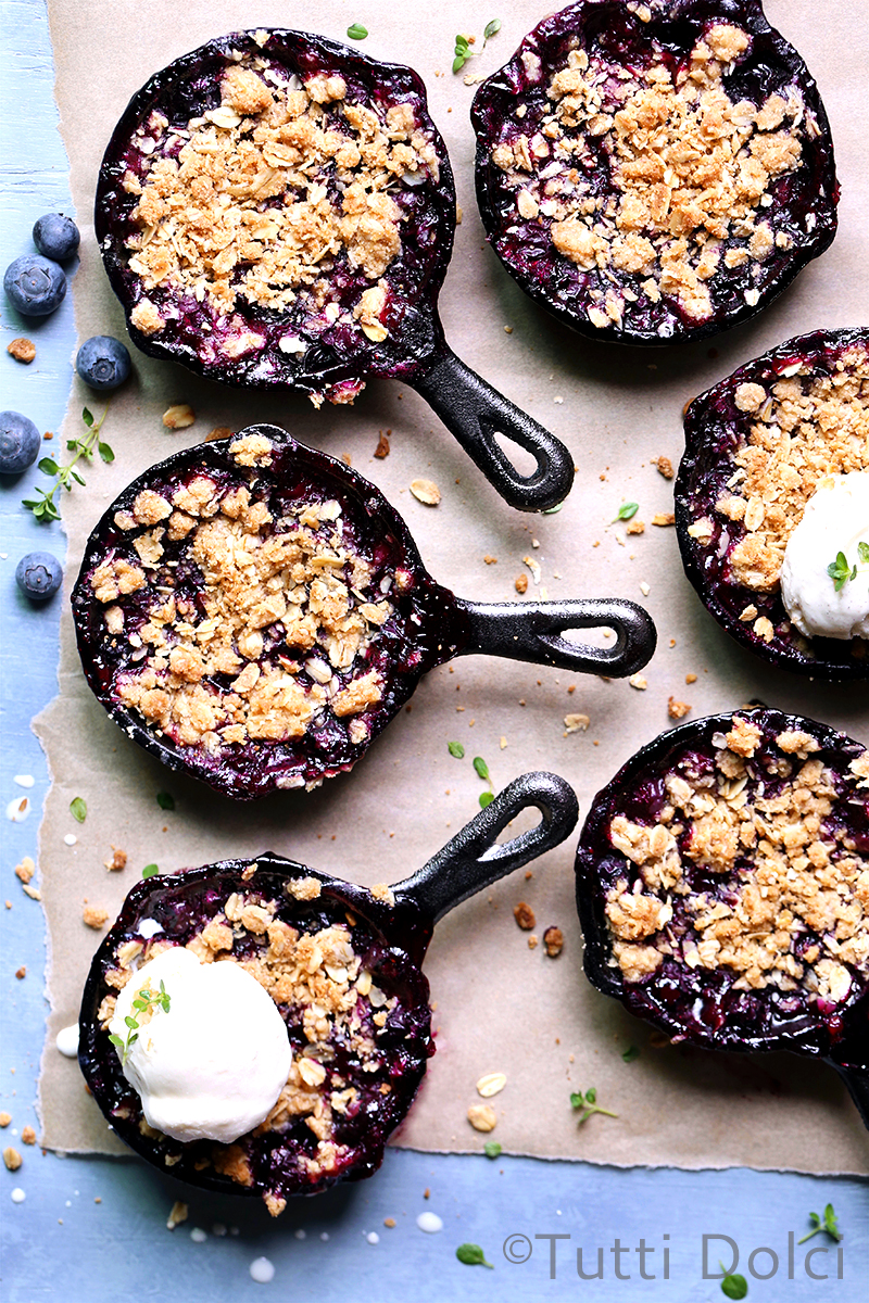 picture Individual Blackberry Crumbles Recipe
