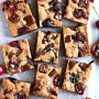 Brown Butter Cherry Chocolate Blondies