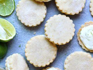 Lime Shortbread Sandwich Cookies