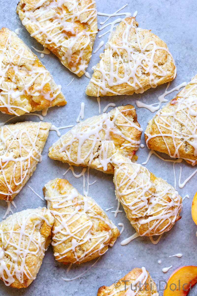 Peach Cream Scones
