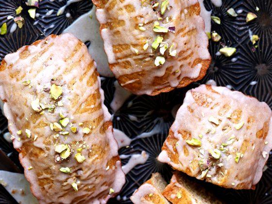 Brown Butter Pistachio Tea Cakes