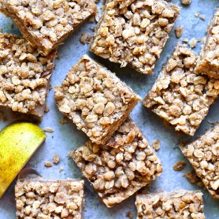 oatmeal cookie pear bars