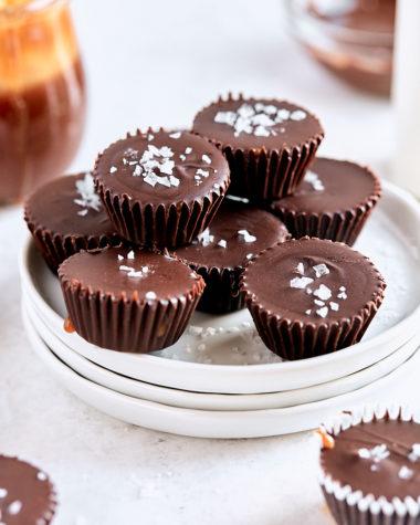 Salted Caramel Chocolate Cups | Tutti Dolci