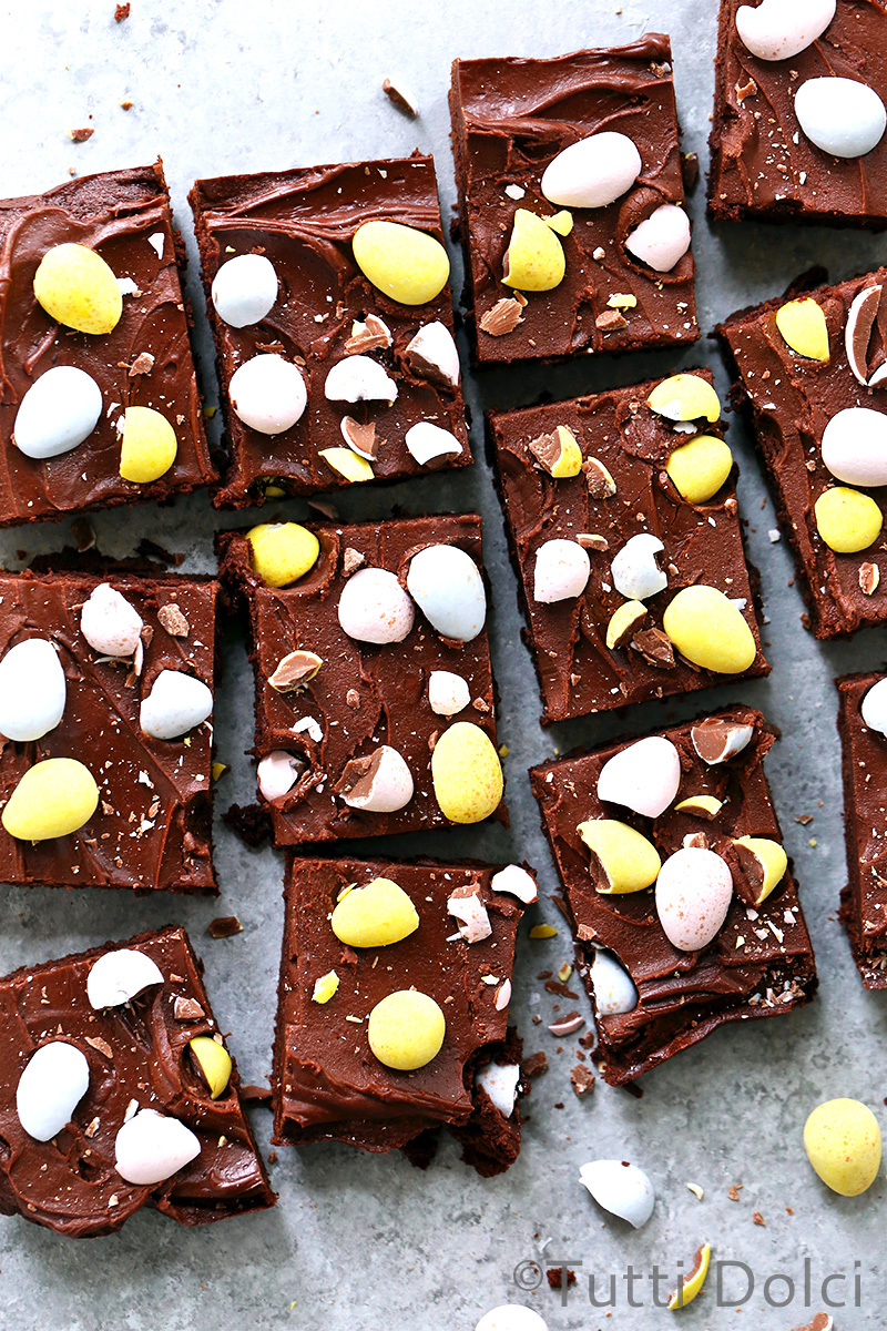 Cadbury Mini Egg Brownies
