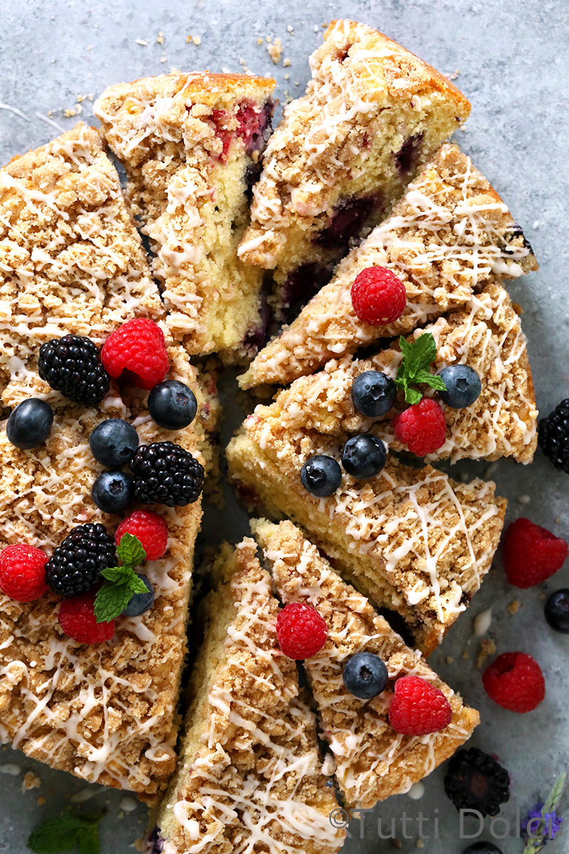 Berry Buttermilk Crumb Cake