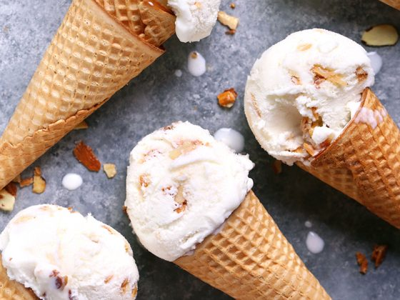 Butter Almond Ice Cream