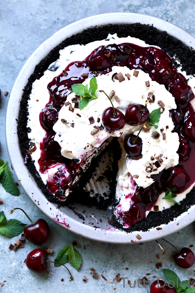 Chocolate Cherry Ice Cream Pie