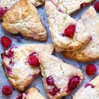 raspberry cream scones