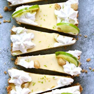 Key Lime Coconut Macadamia Tart