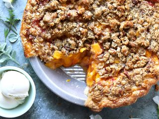 Peach Pecan Crumble Pie
