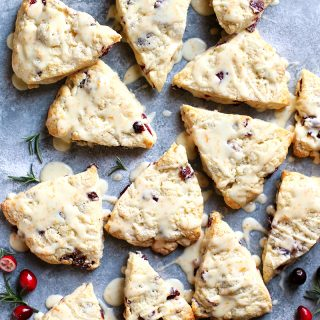 Cranberry Orange Cream Scones