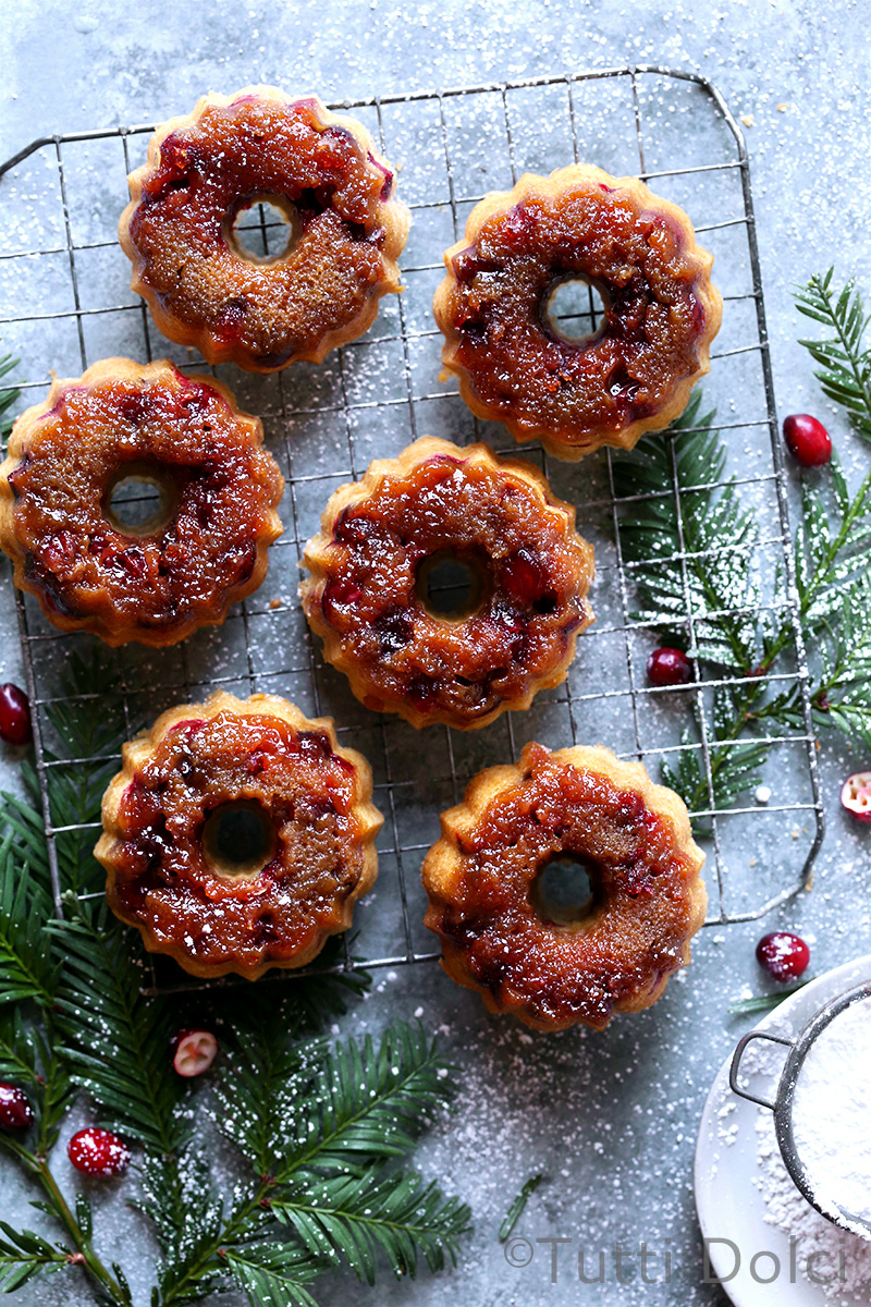 Cranberry Upside-Down Cakelets