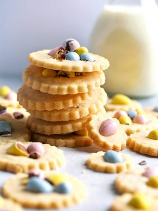 Cadbury Mini Egg Shortbread Cookies
