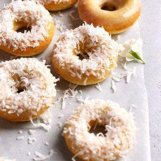 Baked Coconut Doughnuts