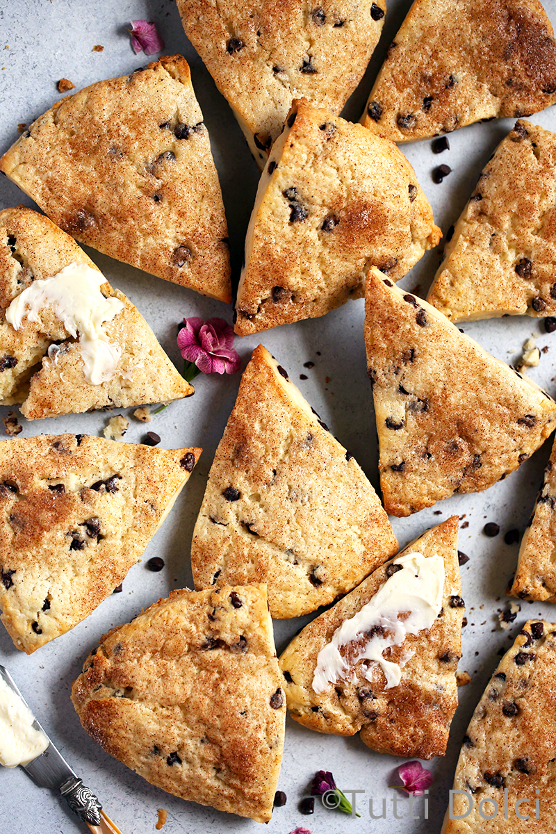 Chocolate Chip Cream Scones