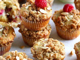 Raspberry Almond Crumb Muffins