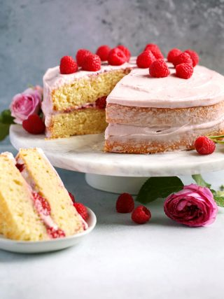 Raspberry Lemon Naked Cake