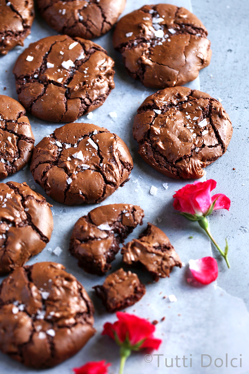 Salted Brownie Cookies
