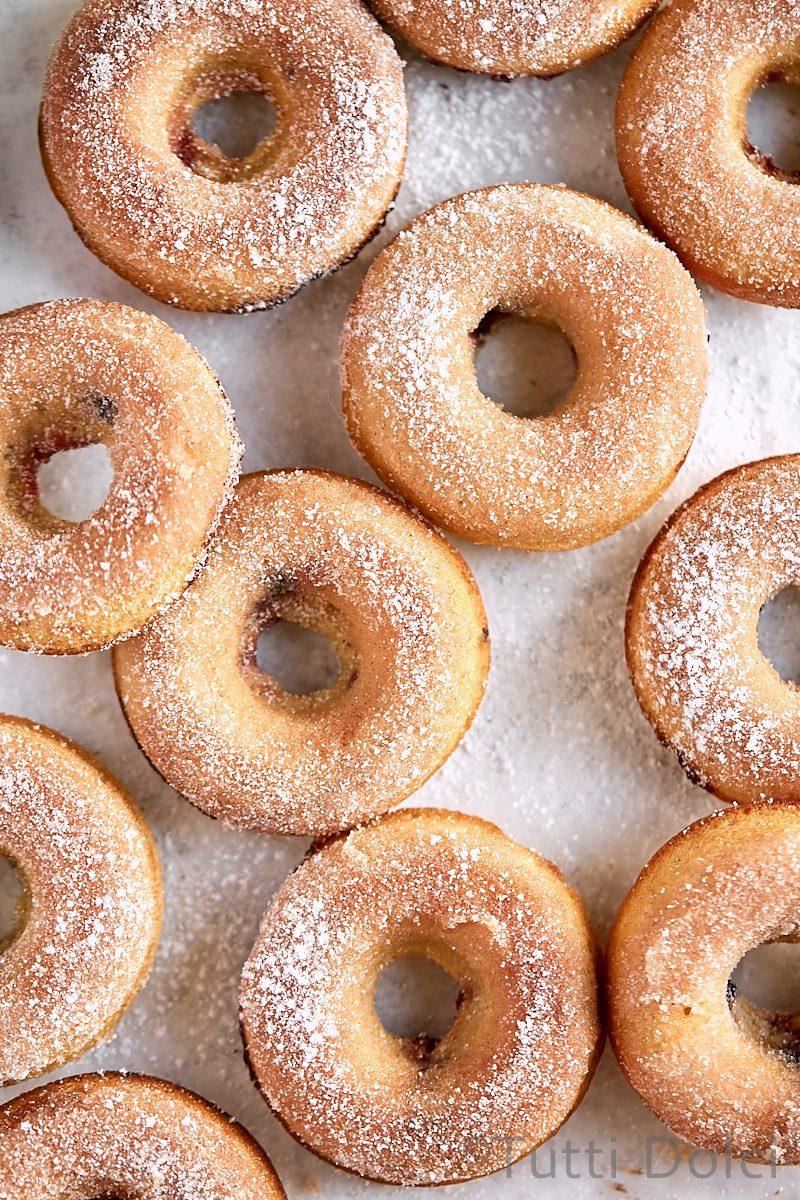 Baked Cherry Doughnuts