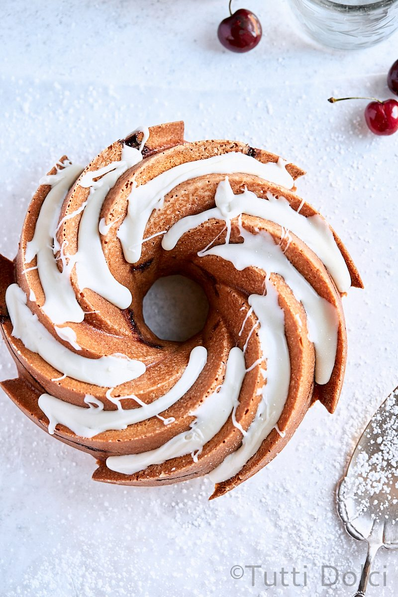 Cherry Swirl Bundt Cake