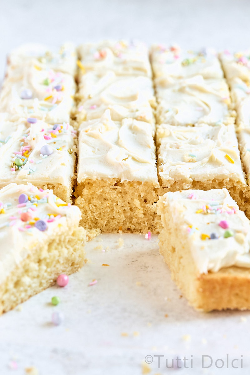 Citrus Vanilla Sheet Cake