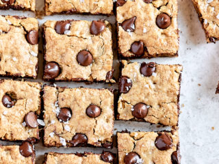 Chocolate Toffee Oatmeal Cookie Bars