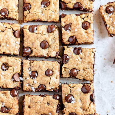 Chocolate Toffee Oatmeal Cookie Bars